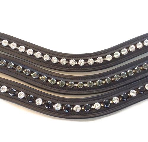 STAR Stirnband Diamond geschwungen Stirnriemen Pferd Strassstirnband